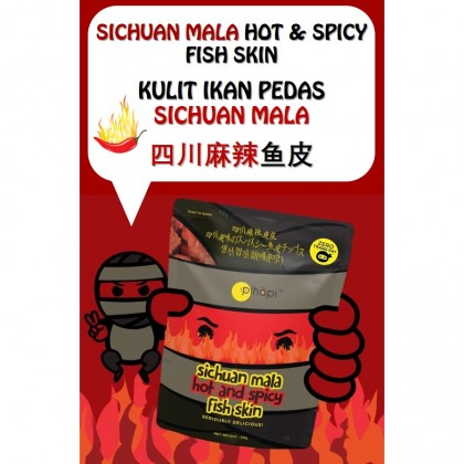 Mixed Flavour 1 Box = 30 packs Pihapi Fish Skin Titbit (10 Salted Egg + 10 Mild Spicy Salted Egg + 10 Sichuan Mala)